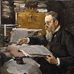 Valentin Serov - Portrait of the composer Rimsky - Korsakov. 1898
