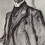 Portrait of the poet KD Balmont. 1905, Valentin Serov