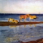 Valentin Serov - Horses on the beach. 1905
