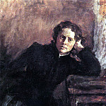 Valentin Serov - the window. Portrait of O. Trubnikov. 1885