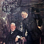 Portrait artists AP Lenski and AI Yuzhin. 1908, Valentin Serov