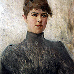 Valentin Serov - Portrait of the Actress Maria J. Van Zandt, in a marriage Cherinovoy. 1886