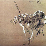 Greyhound royal hunting. 1,902, Valentin Serov