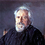Valentin Serov - Portrait of the writer Nikolai Leskov. 1894