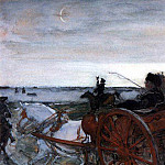 Valentin Serov - Departure of Catherine II in falconry. 1,902