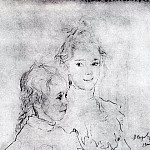 Portrait daughters S. Botkin. 1900, Valentin Serov