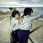 Valentin Serov - Children (Sasha and Yura Serov). 1899