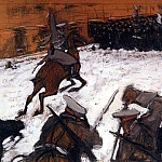 Soldiers, brave lads! Where is your glory. 1905, Valentin Serov