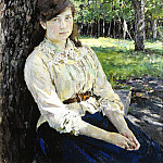 Valentin Serov - Girl in the Sunlight (Portrait of Simonovich). 1888