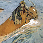 Valentin Serov - Abduction of Europe 3. 1910
