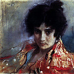 Portrait of an unknown. 1895, Valentin Serov
