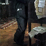 Valentin Serov - Portrait of the composer Alexander Serov, the father of the artist. 1888-1889