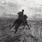 Pushkin in the village. 1899, Valentin Serov