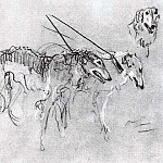 Greyhounds royal hunting. 1900-1901, Valentin Serov