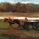Valentin Serov - Baba in the cart. 1896