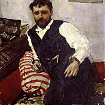 Valentin Serov - Portrait of the Artist Konstantin Korovin. 1891