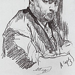 Valentin Serov - Portrait of the composer Alexander Glazunov. 1899