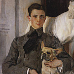 Portrait of Count Felix Sumarokov - Elston, later Prince Yusupov, with a dog. 1903, Valentin Serov