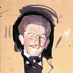 Portrait of Leon Bakst. The second half of 1900, Valentin Serov