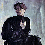 Valentin Serov - Portrait of the writer Maxim Gorky. 1905