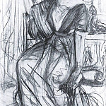 Valentin Serov - Sketch for a portrait PI Scherbatova 2. 1911