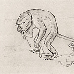 Monkey and glasses. 1911, Valentin Serov