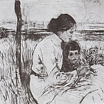 Valentin Serov - Children of the artist. Olga and Anton Serov. 1906
