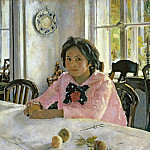 Girl with Peaches ., Valentin Serov