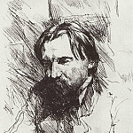 Portrait of the artist-engraver VV Mate. 1898-1899, Valentin Serov