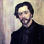 Portrait of the writer L. Andreev. 1907, Valentin Serov