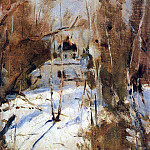 Valentin Serov - Winter in Abramtzevo. Church. 1886