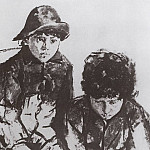 Kids Serov. Yuri and Sasha. 1902-1904, Valentin Serov