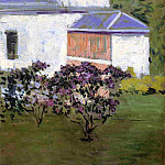 Yerres, Part of the South Facade of the Casin, Gustave Caillebotte