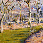 Gustave Caillebotte - The Garden at Petit Gennevilliers in Winter - 1894