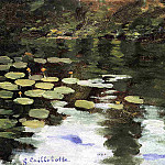 Yerres, on the Pond, Water Lilies, Gustave Caillebotte