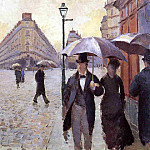 Гюстав Кайботт - Paris Street. - A Rainy Day (study) - 1877