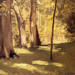 The Yerres, Effect of Light, Gustave Caillebotte