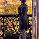 The Man on the Balcony, Gustave Caillebotte