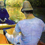 Boaters on the Yerres – 1877, Gustave Caillebotte