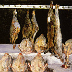 Display of Chickens and Game Birds – 1882, Gustave Caillebotte