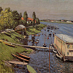 Boathouse in Argenteuil, Gustave Caillebotte