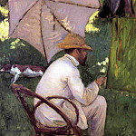 Гюстав Кайботт - The Painter under His Parasol - 1878