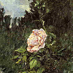 Rose with Purple Iris, Garden at Petit Gennevilliers – 1892, Gustave Caillebotte