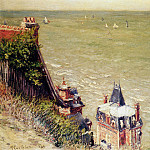 The pink villa at Trouville , Gustave Caillebotte