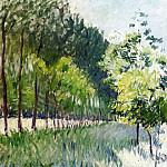 Lane Bordered by Trees, Gustave Caillebotte