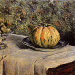 Melon and Bowl of Figs – 1880 – 1882, Gustave Caillebotte