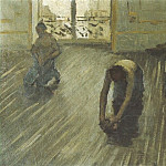 Gustave Caillebotte - The Floor Scrapers (study) - 1875