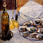 Still Life Oysters, Gustave Caillebotte