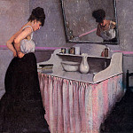 Гюстав Кайботт - Woman at a Dressing Table - 1873