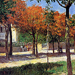 Square in Argenteuil , Gustave Caillebotte